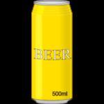 ビール500mlのイメージ